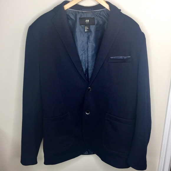 78636e7507f3 H&M Suits & Blazers | Hm Mens Slim Fit Dark Navy Blue Blazer | Poshmark